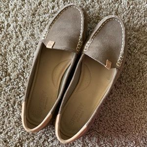 Taupe Sperry Loafers